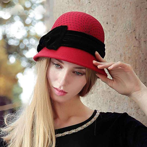Ms. autumn and winter hats new style hat quality wool hat warm hat Ms. Material discount customization