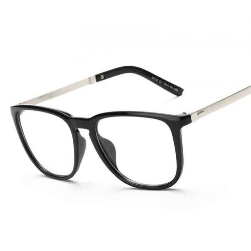 8113 new style plain mirror box glasses decoration glasses plain glass spectacles student