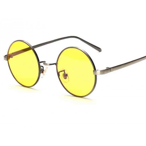 H8045 new style anti-blue glasses computer mirror metal round glasses sunglasses radiation glasses