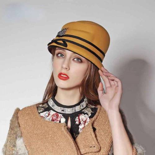 Popular new styles of hats and caps wool material Ms. autumn and winter warm winter hat basin-shaped hat