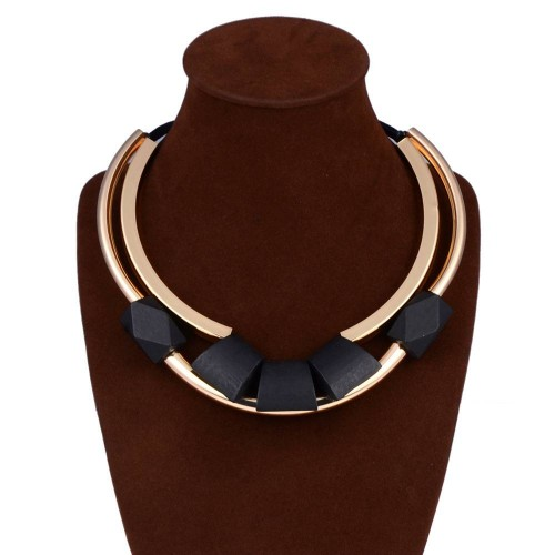 European market and the US market selling models fashion multilayer woven wood brass jewelry chain necklace clavicle