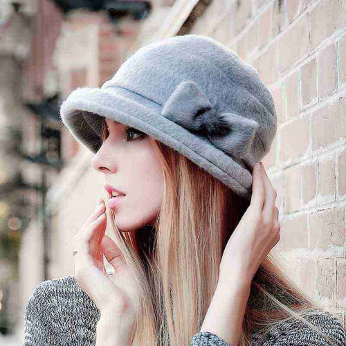 Ladies fashion winter hat knit wool cap ear hat basin-shaped hat fast delivery