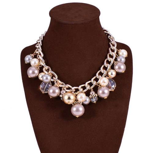 European market and the US market fashion pearl necklace tassel necklace multi-layer pearl necklace exaggerated color retention plating accessories