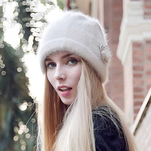 Popular new style fur hat ladies autumn and winter warm wool material simple hat cap child discounts