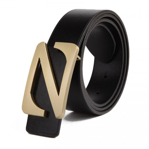 z word upscale men's leather belt buckle Italy top material cowhide belt casual brand promotion