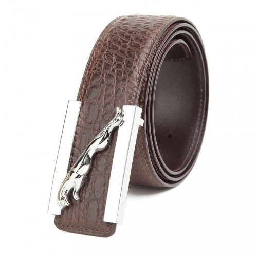 Solid copper high-quality products of high-grade leather belt men's first layer top material leather alligator strap