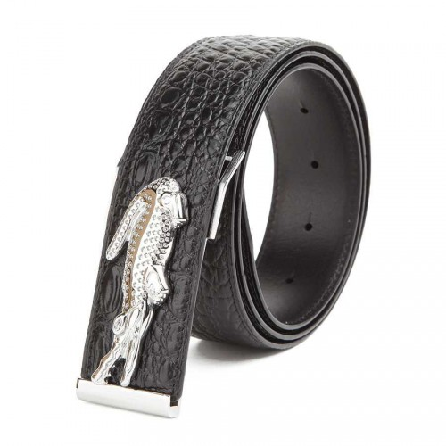 The latest new models buckle men's leather alligator strap high-end fashion belt belt