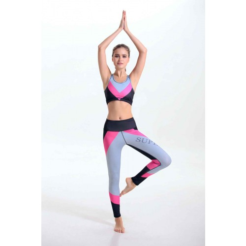 Promotional new models of high-quality digital printing and colorful elastic sports yoga clothing piece suit spring and quick delivery