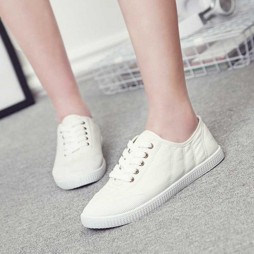 European stations autumn new models casual canvas low to help the rapid sales of solid shoes white shoes