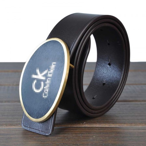 Brand of high-end men's casual leather belt buckle belt popular belt 3.8CM smooth leather belt