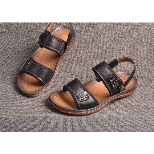 Promotions fast shipping summer brand new style leather sandals men's beach shoes, sandals and slippers for men