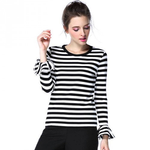 Spring new models in Europe and the US market fashion loose long-sleeved knit minimalist Slim slim