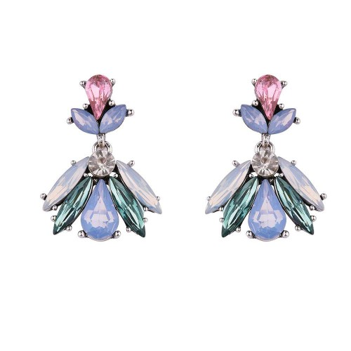 Limited discount European market and the US market discount fashion jewelry earrings Ms. elegant amethyst party accessories