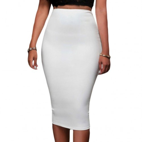New style high waist back zipper Slim sexy package hip fashion knee pencil skirts 65009