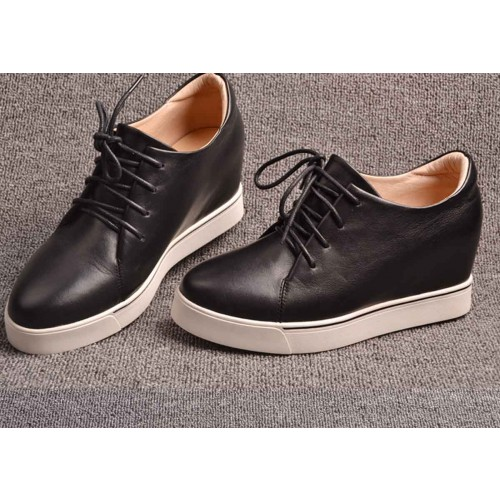 Fast shipping lace ladies' shoes in winter new style high-heeled leather interior casual shoes lady shoes low price