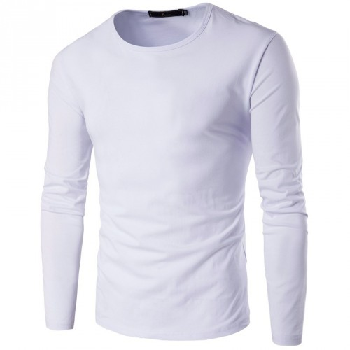 Autumn low price new style men's fashion casual round neck long-sleeved t-shirt personality