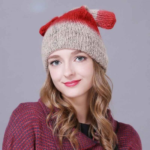 Ms. autumn and winter hat blue winter hat all match ear cute knit hat wool cap