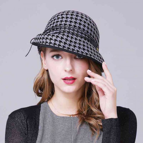 Warm autumn and winter elegant quality wool fisherman hat lady material money Ms. Ms. paragraph hats and caps