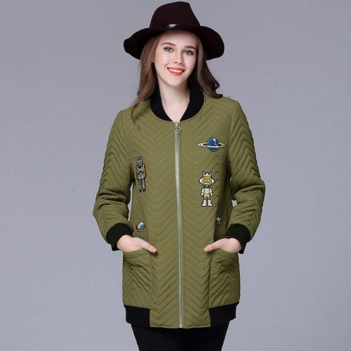 Large size women's winter new style of overweight ladies plus thick cotton jacket overweight ladies good quality cotton padded