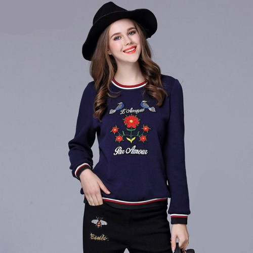 Large size women promotional price discounts member European market and the US market the new winter styles overweight female taxi thick velvet T-shirt shirt bottoming