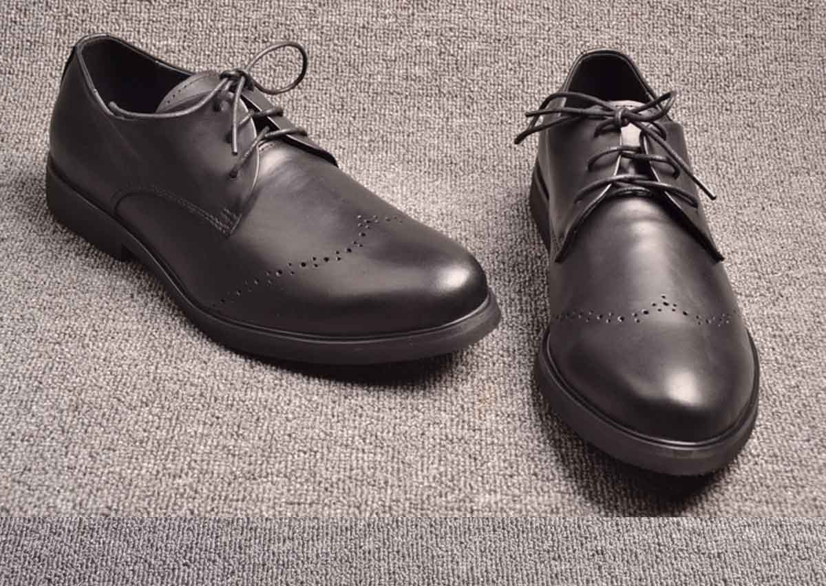 business casual shoes black leather shoes