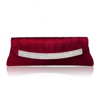 Gorgeous Silk Shell With Austrian Rhinestones Evening Handbags/ Clutches More Colors Available