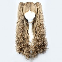 Lolita Curly Wig Inspired By Brown Gradient Cute Double Ponytail 70 cm Princess