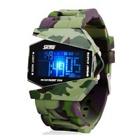 Men & #039;S Watch Camouflage Military Stealth Aircraft Led Multi-Function