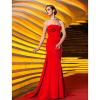 Ts Couture? Formal Evening/Military Ball Dress- Ruby Plus Sizes/Petite Trumpet/Mermaid Strapless Sweep/Brush Train Jersey