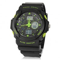Men & #039;S Analog-Digital Multi-Function Rubber Band Sport Wrist Watch (Assorted Colors)