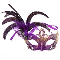 Precious Feather Colorful Women & #039;S Carnival Party Mask