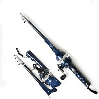 Telespin Rod With Fishing Reel Sea Fishing Portable 131 cm (0.235/120,0.285/100,0.33/80)