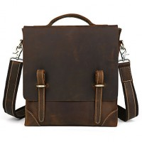 Men Cowhide Leather Shoulder Messenger Bag Tote Business Bag