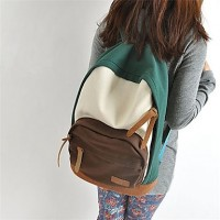Women & #039;S Japanese And Kerean Fashion Canvas Casual Backpack