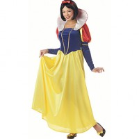 Noble Princess Snow White Deluxe Polyester Women & #039;S Halloween Costume