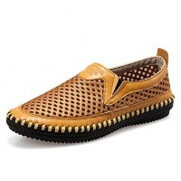 Men & #039;S Shoes Office & Career/Casual Leather Loafers Black/Brown/Yellow