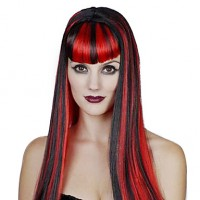 Party Queen Synthetic Fiber Long Straight Hair Women & #039;S Halloween Party Wig