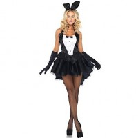 Sexy Bunny Girl Black Dress Women & #039;S Halloween Costume (One Size)For Carnival