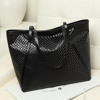 Women Lady Fashion Quilted Leather Handbag Tote Shopper Bag