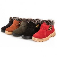 Children & #039;S Shoes Snow Flat Heel Suede Ankle Boots More Colors Available