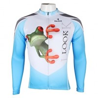 Paladinsport Men & #039;S Summer And Autumn Style 100% Polyester White Long Sleeved Cycling Jersey