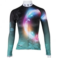Paladinsport Women & #039;S Long Sleeve Cycling Jersey Aperture Spring And Summer Style 100% Polyester