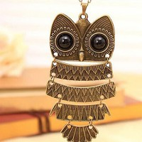 Women & #039;S The Owl Sweater Necklace