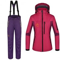 Women & #039;S 3 In 1 Polyester Thermal Windproof And Anti-Wear Skiing Suit