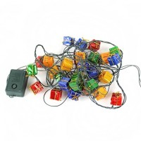 Christmas Gift Box Lantern 28-Led String Light- Multicolored (110V)