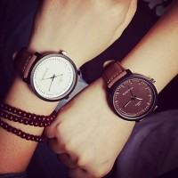 Couple & #039;S Circular Quartz Fashion Belt Watch(Assorted Colors)