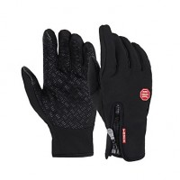 Men & #039;S Cycling Gloves/Winter Gloves Warm Fleece Full Finger Bike Bicycle Gel Touch Mittens Winter Waterproof