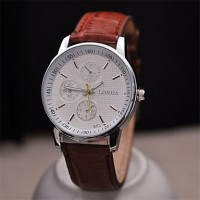 Men Classic Business Leather Strap Watch High Quality Japanese Quartz Movement Watches(Assorted Colors)