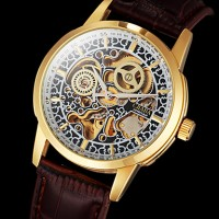 Men & #039;S Watch Auto-Mechanical Classic Skeleton Hollow Engraving Gold Case