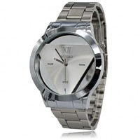 Men & #039;S Watch Fashion Transperant Triangular Dial Full Steel Atmosphere Dress Wrist Watch (Assorted Colors)
